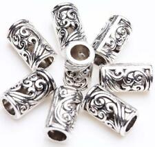 Tibetan Silver Tube Charm Loose Spacer Beads Bracelet Jewelry Finding 8x5mm