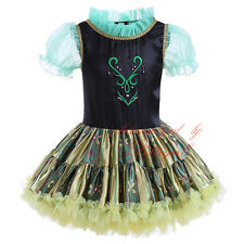 Baby Girls Frozen Queen Anna Princess Cosplay Costume Party Fancy Tutu Dress