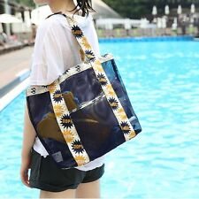 Women Casual Shoulder Bag Simple Candy Color Large Straw Zipper Beach Bags 2016