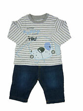 Baby Boy Clothing Outfit Striped T-Shirt/Top and Jeans Puppy New