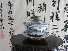 Porcelain Tea Set Hand Made Clay Gaiwan Teapot Coffee Cup Bowl with Lid 5oz Gift