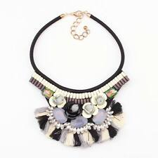 2016 new bead necklace crystal flower statement pendant women necklace wholesale