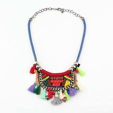vintage rope chain tassel pendant ethnic new chunky statement necklace for women