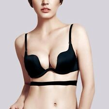 Smooth Seamless Womens 3/4 Cup Underwire Sexy Multi-way Push-Up Bra 32~38 A~C