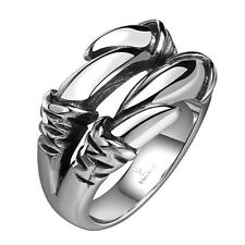 1x Men's Punk Biker Claw Style Ring Stainless Steel Jewelry US Size 8-11 GS8