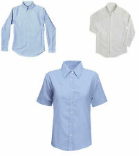 NEW BOYS SCHOOL UNIFORM COLLAR SHIRT BLUE OR WHITE LONG SLEEVE / SHORT SLEEVE