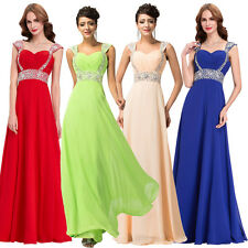 Sexy Chiffon Long Maxi Dress Formal Evening Bridesmaid Party Prom Cocktail Dress