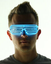 Music Sound Activated EL Glow Wire Glasses Luminescence Shutter Frames
