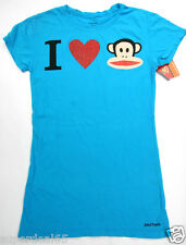 Paul Frank T Shirt Blue I Heart Julius 100% Cotton Paul frank