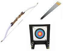 "Left Handed 66"" Take Down Archery Adult Recurve Bow Kit with Target and Arrows"
