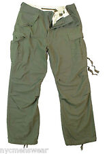 Vintage Olive Drab Military M-65 Field Pants Army Durable Pants - Rothco 2601