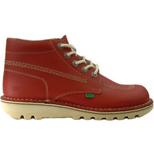 Mens Kickers Kick Hi Red Leather Boots