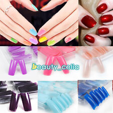 100 Colorful/White/Clear False French Salon Professional Nail Tips Manicure Kit