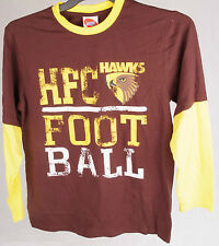Official AFL Hawthorn Hawks Youth Long Sleeve Tee