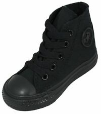 Converse All Star Hi Top Black Mono Infant Toddler Boys Girls Shoes Size 2-10