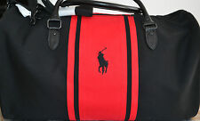 RALPH LAUREN POLO BLACK AND RED  / Travel / Gym / Holdall / Duffle / Sports Bag