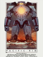 Pacific Rim Jaeger Vintage Painting Cool Art Giant Wall Print POSTER