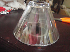 Clear glass shade for candle holder with metal