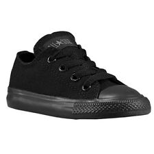 Converse All Star Ox Black Mono Infant Toddler Boys Girls Shoes Size 2-10