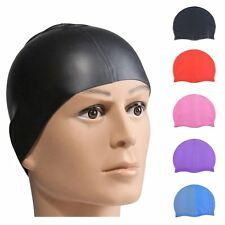 Durable Flexible Sporty Silicone Swimming Waterproof Swim Cap Bathing Hat Unisex