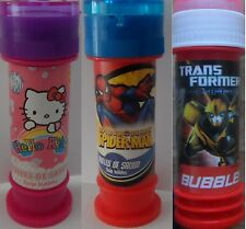 6 x Transformer or Hello Kitty or Spiderman bubble tubs with Maze Party Filler