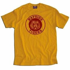 Adult Men's Sitcom Comedy Saved By the Bell Bayside Tigers Gold T-shirt Tee