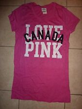 "VICTORIAS SECRET PINK ""LOVE PINK"" ""CANADA"" SCOOPNECK TEE NWT"