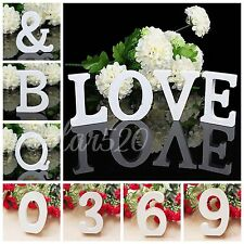 3D Wooden Wood DIY Alphabet Letters Number Wall Hanging Wedding Party Home Decor