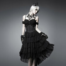 Punk Rave Victoria Gothic Lace Dress [Special Order] - Gothic,Goth,Black,Prom,Fo
