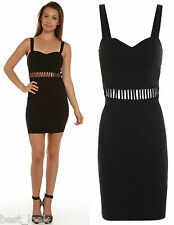 Miss Selfridge Black Ladder Waist Bodycon Dress