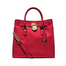Michael Kors Hamilton Large Chili Red NS Saffiano Leather Satchel Tote NWT $358