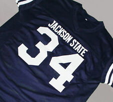 WALTER PAYTON - JACKSON STATE UNIVERSITY JERSEY NAVY SEWN NEW ANY SIZE