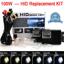 5000k 100W HID Kit Headlight Conversion Xenon Light Headlamp Replacement Bulb YQ