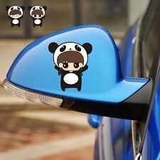 SML A Pair Boy Girl Panda Rearview Mirror Bumper Random Body Decals Car Stickers