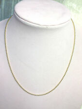 "JUDITH RIPKA STERLING & 14K CLAD 20"" 2.0mm SHOT BEAD CHAIN NECKLACE (M527-6-4)"