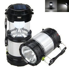 Portable Solar Power Outdoor Lantern Camping Lamp Rechargeable Emergency Lights