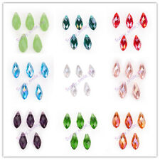 10x20mm Teardrop DIY Jewelry Pendant Necklace Glass Crystal Beads Charm 40Colors