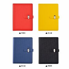 A5 Loose Leaf PU Leather Buckle Planner Notebook Diary Journal Pen Holder #BY5