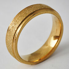 Men's Unisex Yellow Gold Filled Band Promise Love Band Ring Size 8 9 10 11