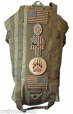 COYOTE TAN TACTICAL POLICE K9 DOG VEST HARNESS MOLLE MILSPEC CANINE VELCRO