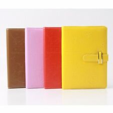 Leather Colorful Notebook Schedule Monthly Planner Diary Journal Note Memo #Y5