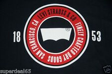 Levi's T Shirt Levi Strauss & Co Navy 100% Cotton Finely Crafted Dry Goods Levis