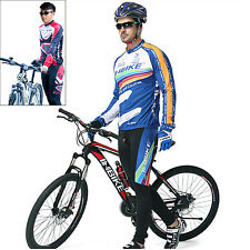 Men Bike Riding Long Sleeve Outfits Cycling Wicking Breathable Jersey Pants Sets