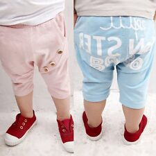 New 0-4Y Kids Baby Boys Casual Cropped Pants Bottoms Baggy Harem Shorts Trousers