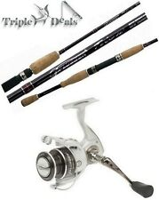 New Pflueger Trion 2 Piece Fishing Rod and Reel Combo - Graphite Spin Combo