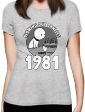 Blowing Out Candles Since 1981 35th Birthday Gift Idea Women T-Shirt Funny