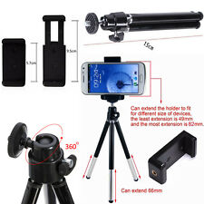 Mini Tripod Rotatable Stand Holder For Camera Phone Mobile Apple Samsung Galaxy