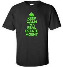 Keep Calm I'm A Real Estate Agent T-Shirt Funny Occupation Mens Tee