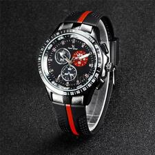 Fashion V6 Silicone Rubber Band Sport Casual Mens Quartz Analog Wrist Watch K4V4