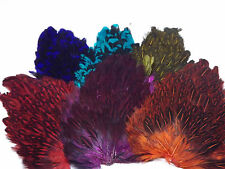 Hen Saddle dyed Spackle, Grade A, Fly tying feathers, Materials, Craft.